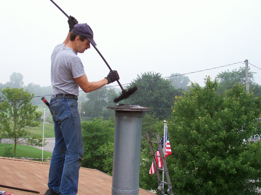 metal chimney cleaning