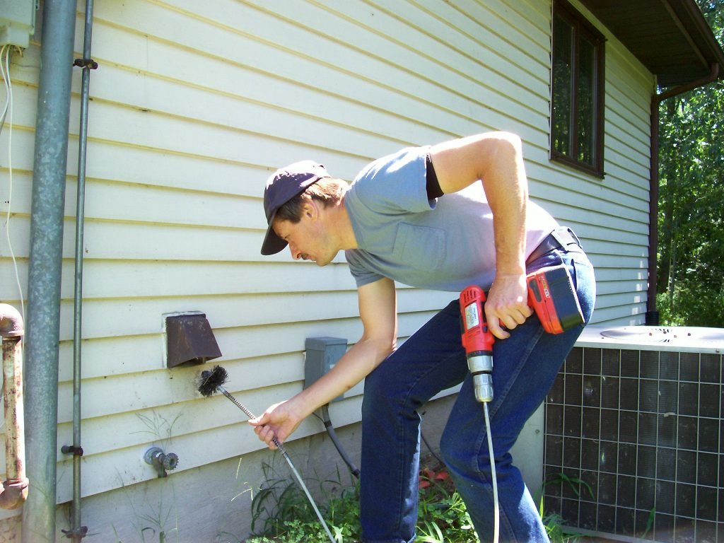 "Special ""spinning"" brushes snake through your dryer vent cleaning lint off the sides of the vent."